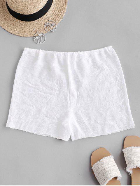 Halbtransparente- Strand-Hose mit Kordelzug - Weiß Eine Größe Mobile