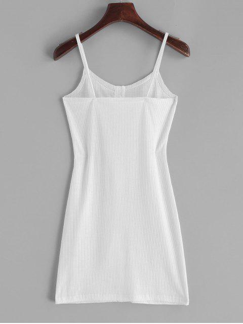 Vestido ajustado con botones acanalados ZAFUL - Blanco S Mobile