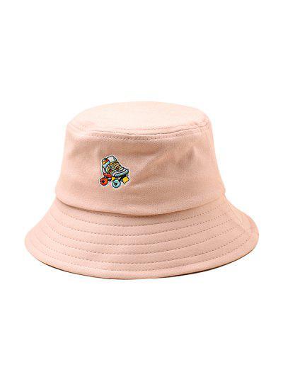 Embroidered Roller Skates Pattern Bucket Hat