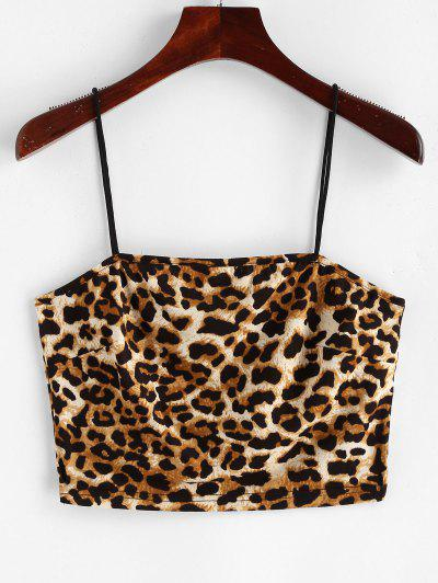 ZAFUL Leopard Print Crop Cami Top