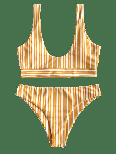 ZAFUL Striped Tank Bikini Swimsuit