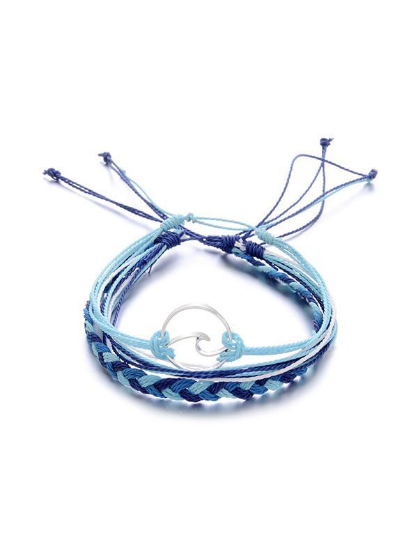 3 Piece Braided Rope Bracelet Set