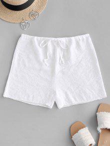 الرباط نصف شير شاطئ التستر السراويل - أبيض