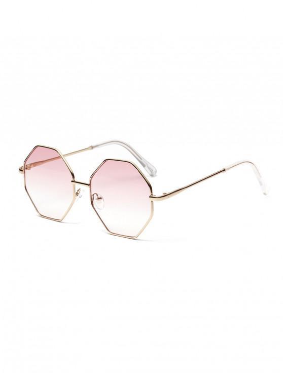 women's Brief Irregular Metal Sunglasses - PINK