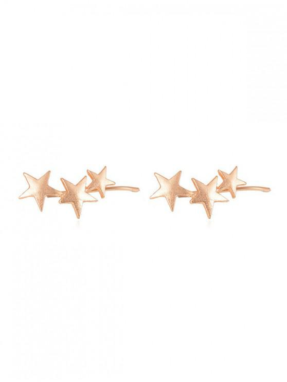chic Personality Star Clip Earrings - GOLD