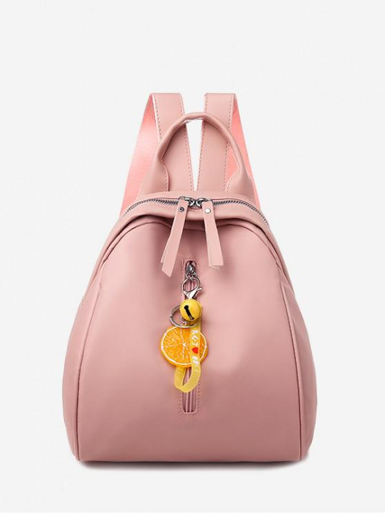 buy Lemon Pendant PU Leather Backpack - PINK