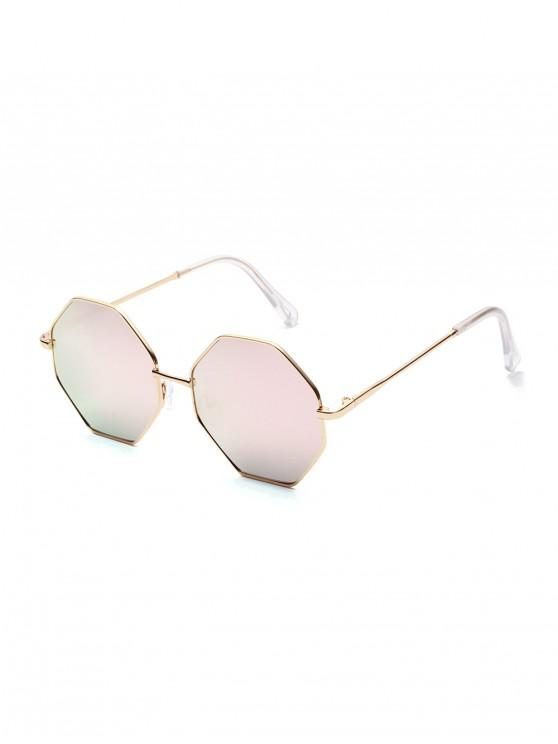 outfit Brief Irregular Metal Sunglasses - KHAKI ROSE