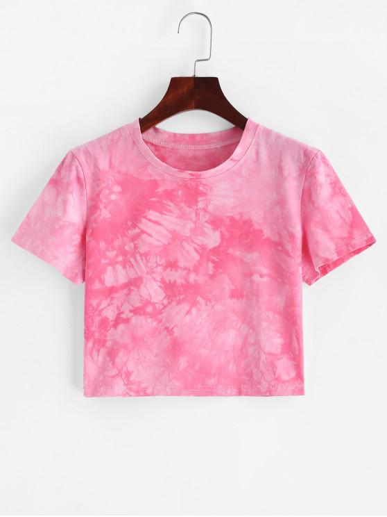 Camiseta Corta Tie Dye Recortada - Multicolor-B S
