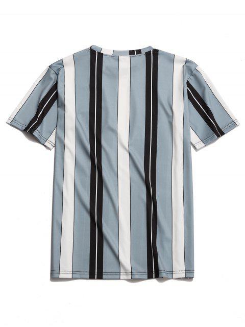 Camiseta Estampado Rayas Verticales Contraste - Multicolor M Mobile