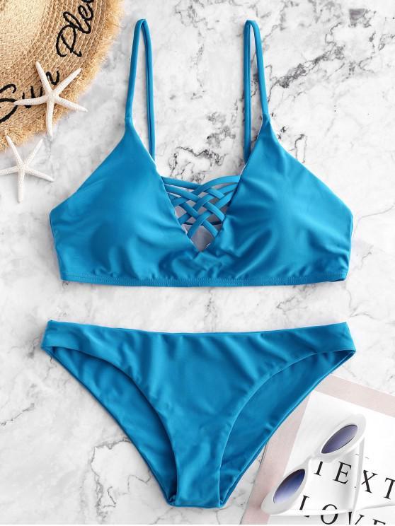 Maillot De Bain Bikini Lacé à Bretelle - Pers S