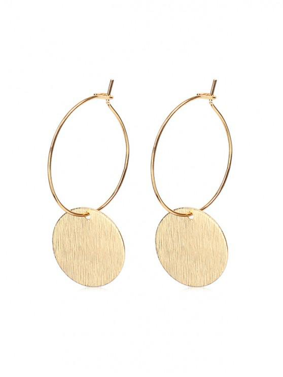 Pendientes de aro redondos y cortos - Oro 2 piezas
