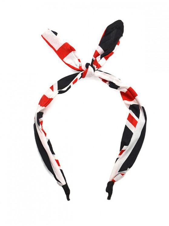 fashion Striped Rabbit Ear Headband - MULTI