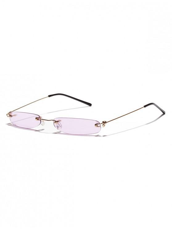 f4b75566f Óculos de sol sem aro com retângulo de lente estreita - Cor de Púrpura  Escura