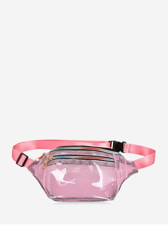 Bolsa de malla de PVC de malla transparente - Rosado