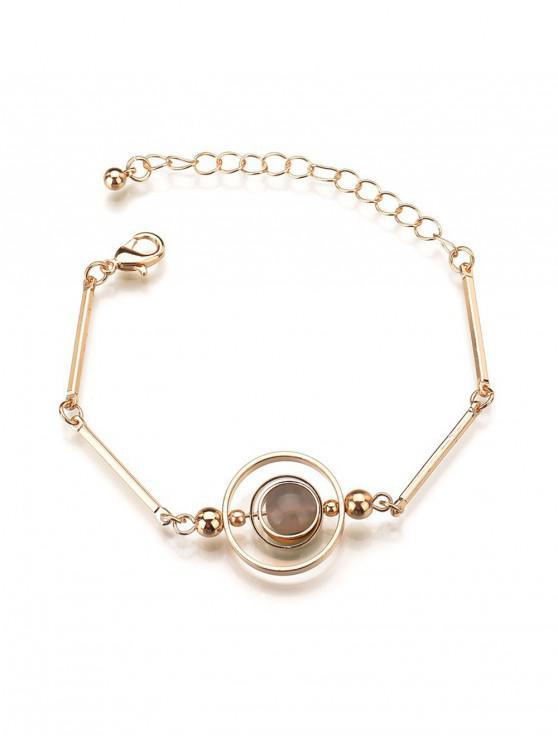 Bracelet à Chaîne Style Ethnique Cercle en Allaige - Gris argenté