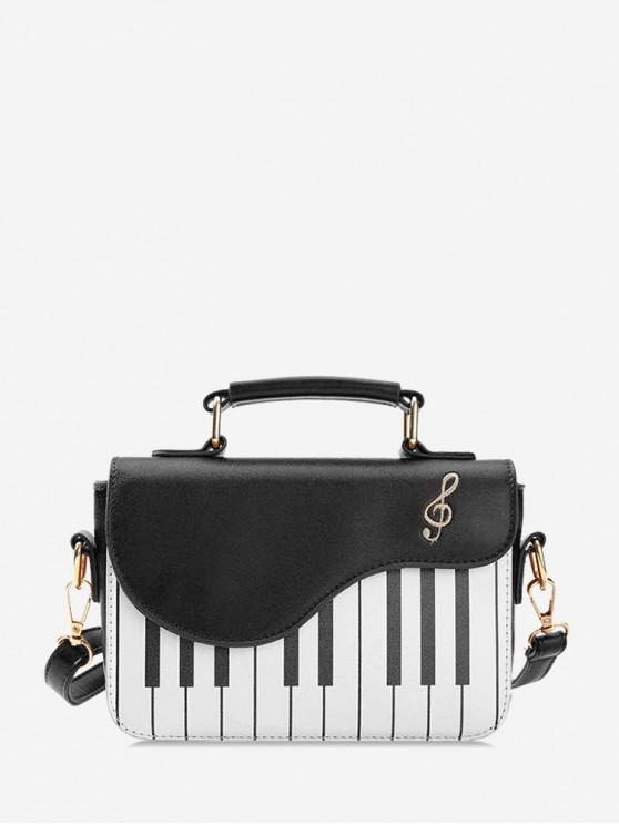 outfits Piano Note Pattern Crossbody Bag - BLACK