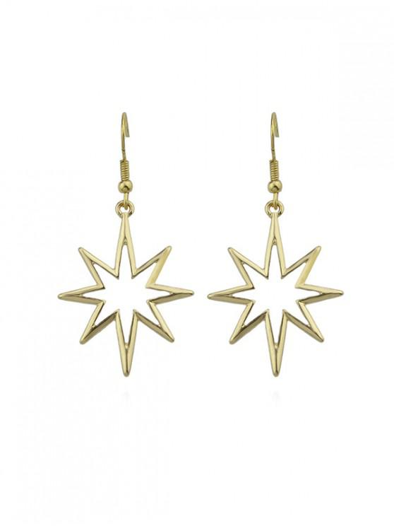 chic Hollow Out Star Drop Earrings - GOLD