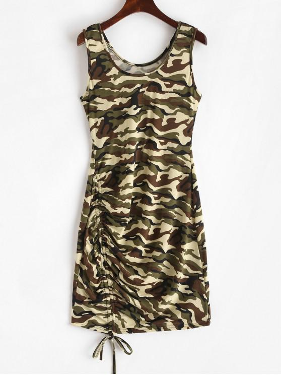 hot Camouflage Cinched Tank Mini Dress - ACU CAMOUFLAGE XL