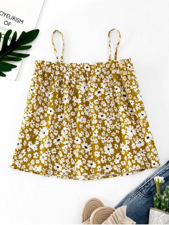Camisola casual con volantes florales ZAFUL - Vara de Oro S