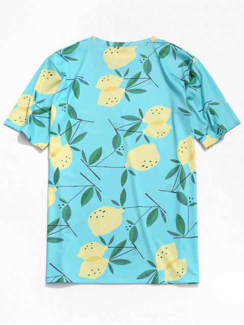 Camiseta de playa con estampado de plantas frutales - Hiedra Azul S Mobile