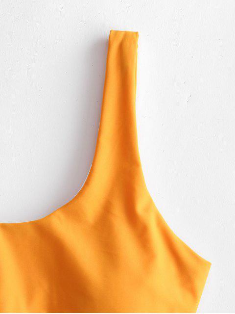 Bañador de una pieza ZAFUL Tie Two Tone Cutout - Azafrán L Mobile