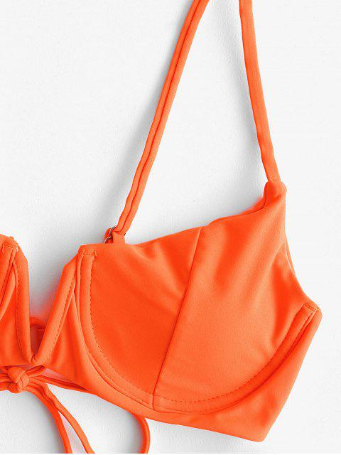 unique ZAFUL V-wired Push Up Balconette Bikini Swimsuit - HALLOWEEN ORANGE L Mobile