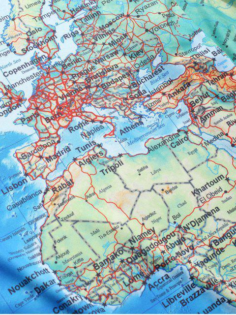 shop Detailed World Map Print Short Sleeves T-shirt - MULTI-A 2XL Mobile