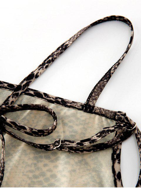women ZAFUL Strappy Open Back Dalmatians Snake Print Cami Top - MULTI L Mobile