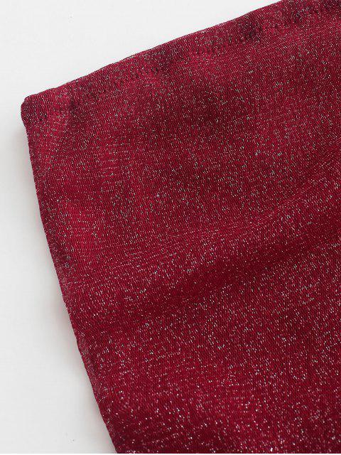 Top de Elástico em Faixa Brlhante - Vermelho M Mobile