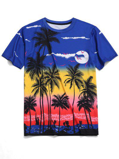2f7840847 Beach Palm Scenery Print Hawaii Tee - Multi 2xl ...