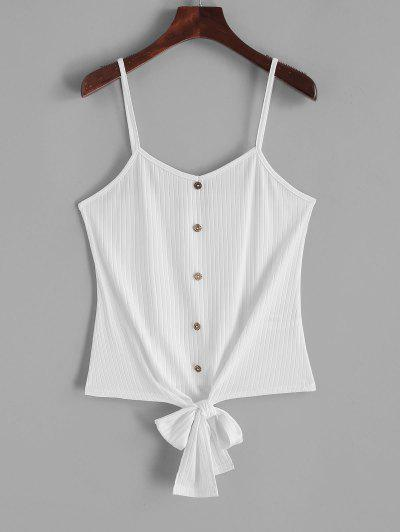 ZAFUL Buttons Knotted Hem Crop Cami Top