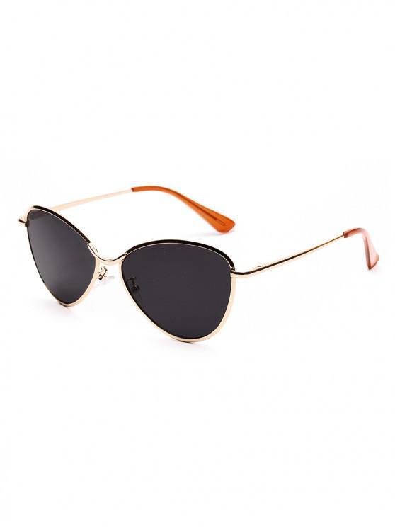 shop Triangle Lens Metal Outdoor Sunglasses - GRAY