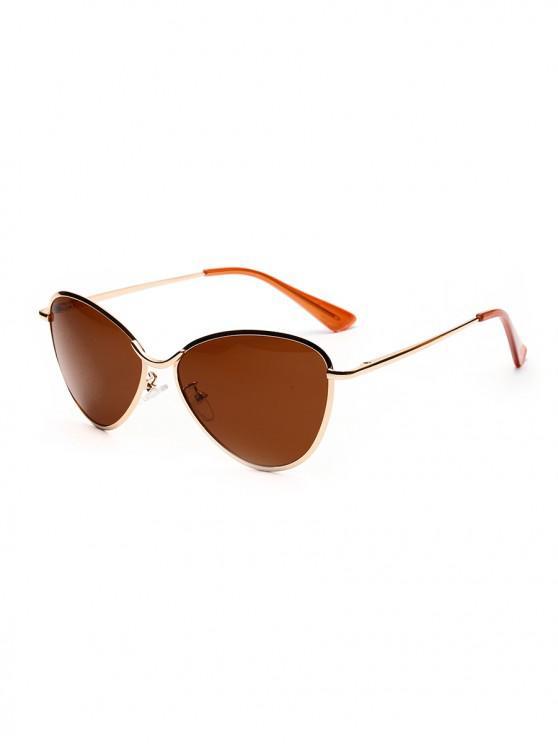 Gafas de sol para exteriores de metal con lente triangular - Marrón