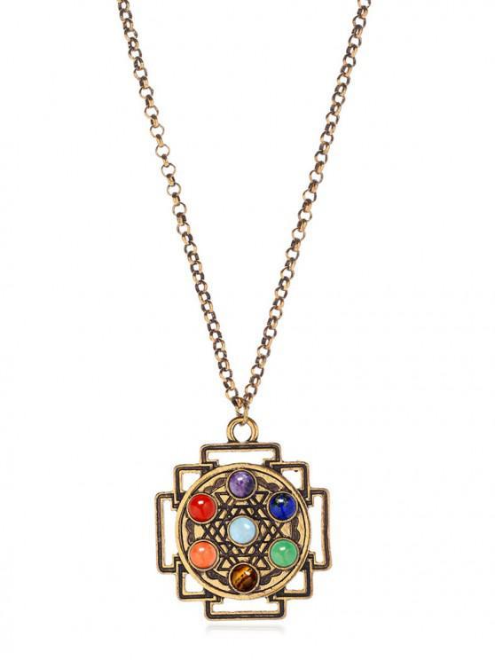 Collar de cadena de la aleación de la novedad - Multicolor-A