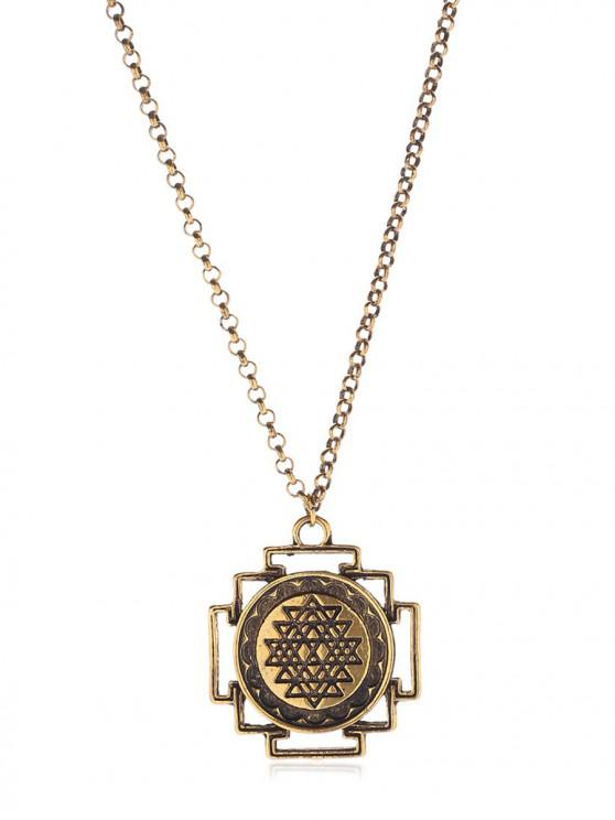 online Novelty Alloy Chain Necklace - GOLD