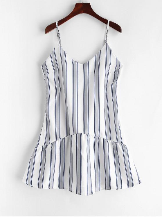 unique Cami Stripes Mini Dress - BLUE XL
