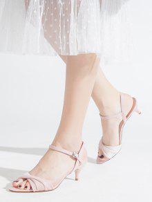 Mesdames nouvelle Prom Bridal Chaton Talon Pierre Satin Bride Cheville Bout Ouvert Sandale UK
