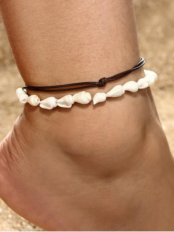 lady Conch Double-layer Anklet Set - WHITE