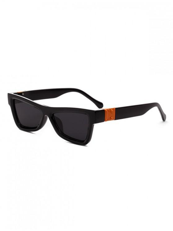 buy Square Stylish Vintage Chic Sunglasses - BLACK