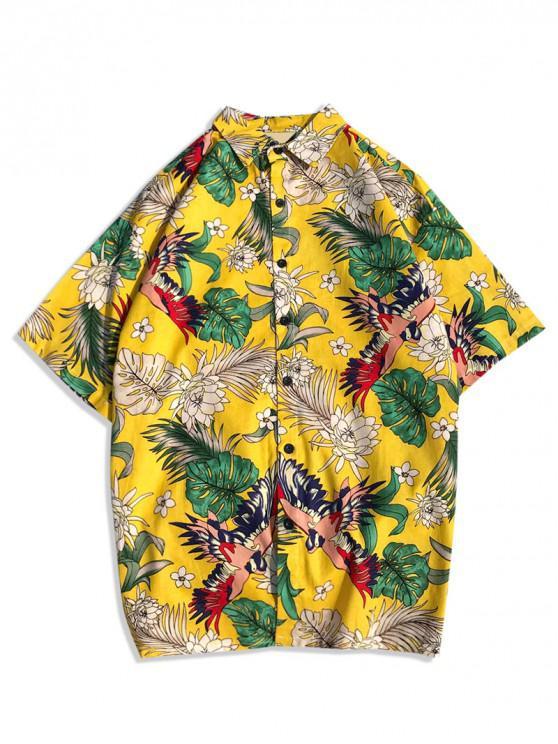 6c6a7c8bb2 29% OFF] [NEW] 2019 Tropical Animal Plant Print Hawaii Beach Shirt ...