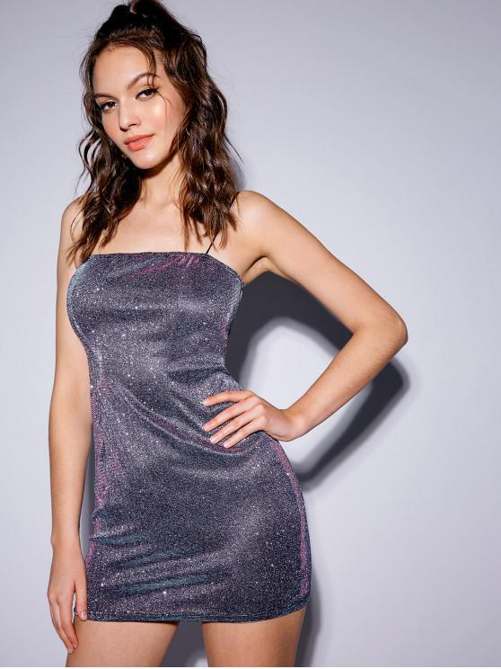 shops Party Shiny Cami Mini Dress - SILVER S