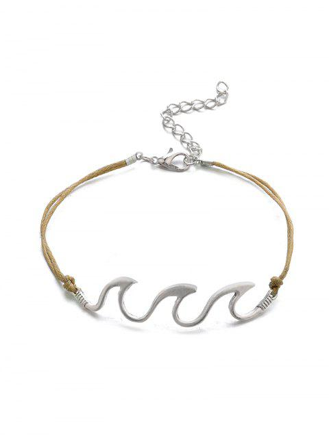 outfits Double Layer Cowrie Shell Chain Anklet Set - SILVER  Mobile