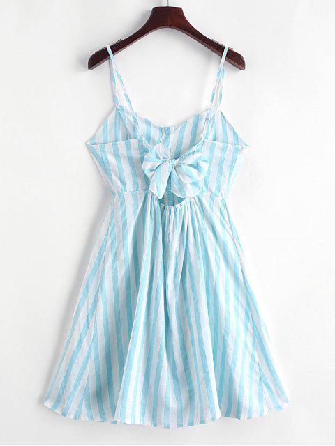 Geknöpftes Gestreiftes Chasuble- Kleid - Tron Blau XL Mobile