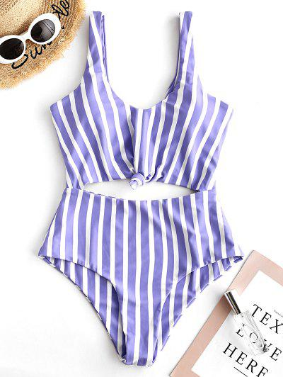 4872d05cd85 ZAFUL Striped Knotted Monokini Swimsuit - Multi-a M ...
