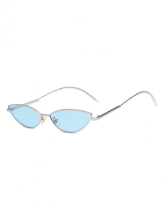 latest Vintage Irregular Stylish Metal Frame Sunglasses - SKY BLUE