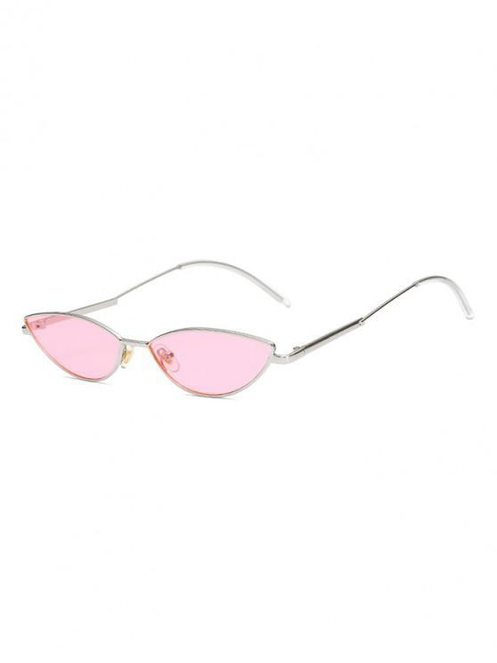 fancy Vintage Irregular Stylish Metal Frame Sunglasses - PINK