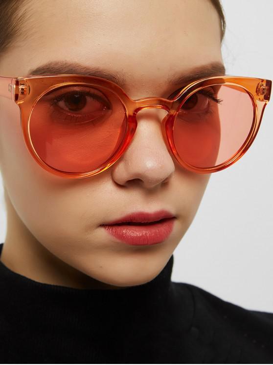 buy Retro Round Chic Sunglasses - TANGERINE