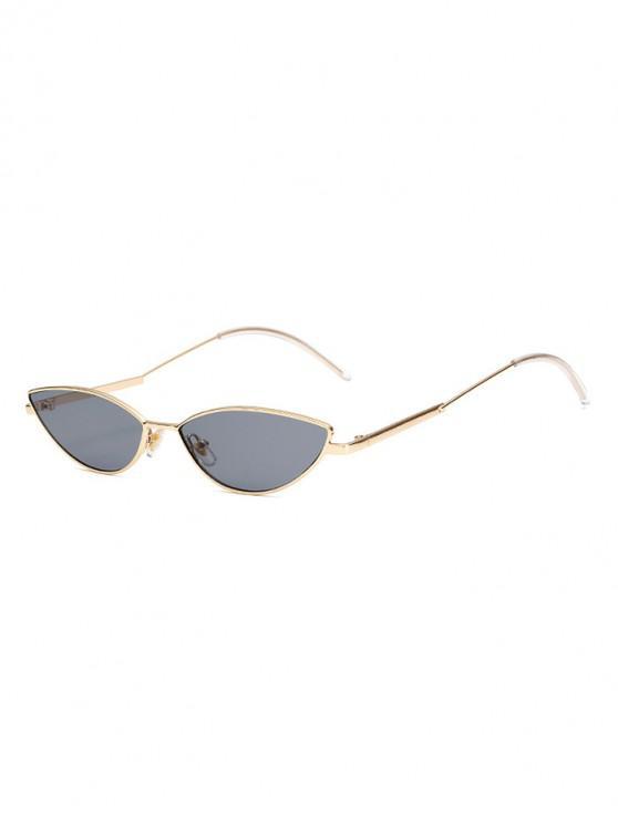 خمر غير النظامية أنيق الإطار المعدني النظارات الشمسية - ذهب