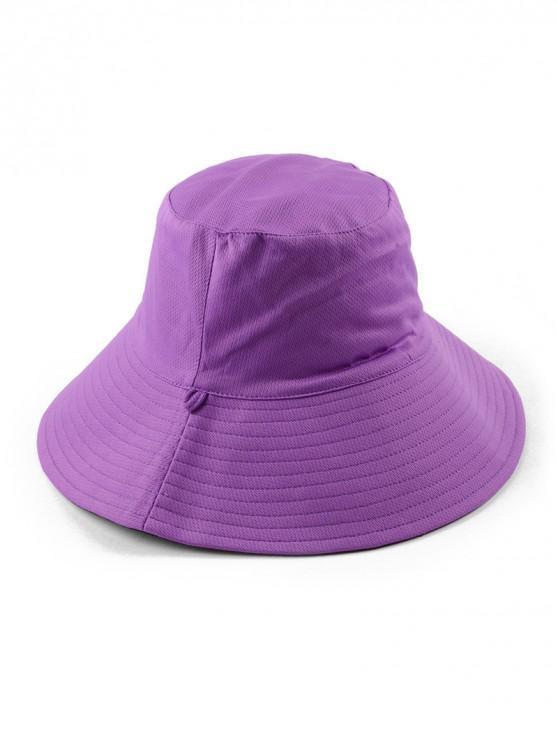 الوجه المزدوج دلو قبعة الشمس - أرجواني منتظم