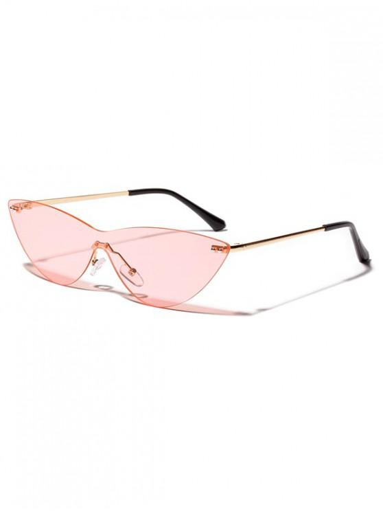 outfit Integral Catty Eye Rimless Sunglasses - LIGHT PINK